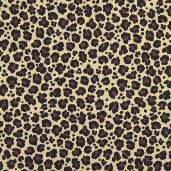 Jersey Fabric - Leopard in Beige/Brown