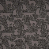Brushed French Terry Fabric - Leopard in Grey-French Terry-Jelly Fabrics