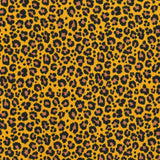Jersey Fabric - Leopard in Mustard/Brown-Jelly Fabrics