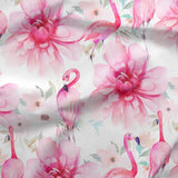 French Terry Fabric - Pink Flamingos-French Terry-Jelly Fabrics
