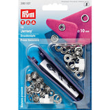 Non-sew 10mm Press Fasteners for Jersey (Silver) and Processing Tool Set-Accessories-Jelly Fabrics