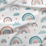 French Terry Fabric - Pastel Rainbows-French Terry-Jelly Fabrics