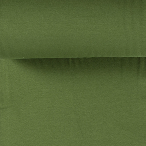 Rib Knit - Khaki Green tubular ribbing-Jelly Fabrics