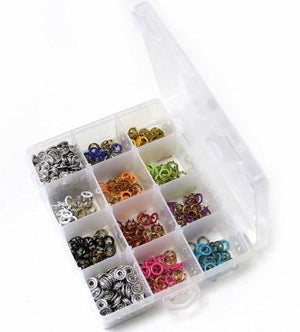 Snap buttons - 11mm Non-sew metal snap fasteners set of 10 colours
