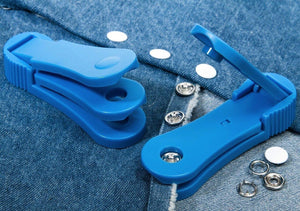Snap button tool for processing jersey metal snap fasteners