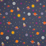 Cotton Jersey Fabric - Space in Blue Grey-Knit-Jelly Fabrics