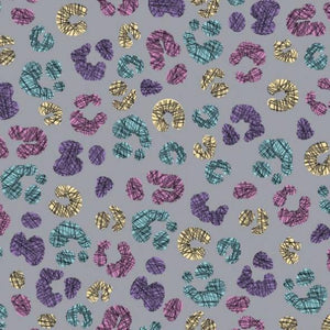 PRESALE!!! - Jersey Fabric - Colour Changing Panther Spots in Grey