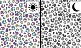 Jersey Fabric - Colour Changing Panther Spots in White-Jersey Fabric-Jelly Fabrics