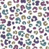 Jersey Fabric - Colour Changing Panther Spots in White-Jelly Fabrics