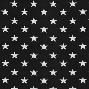 Jersey Fabric - Stars in Black