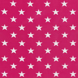 Jersey Fabric - Stars in Honeysuckle Pink-Jersey Fabric-Jelly Fabrics
