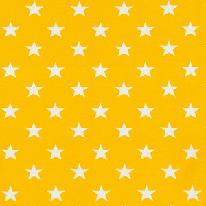 Jersey Fabric - Stars in Lemon Yellow-Jersey Fabric-Jelly Fabrics