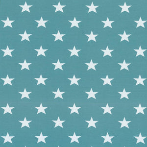 Jersey Fabric - Stars in Mint Green