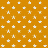 Jersey Fabric - Stars in Mustard Yellow-Jersey Fabric-Jelly Fabrics
