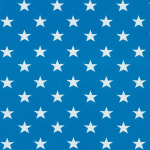Jersey Fabric - Stars in Turquoise
