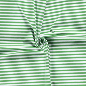 Jersey Fabric - Green with White Stripes (small)-Jelly Fabrics