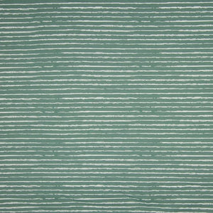 Cotton Jersey Fabric - Stripes in Old Green-Jersey Fabric-Jelly Fabrics