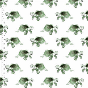 Organic Cotton Jersey Fabric - The Turtle Truls-Organic Jersey-Jelly Fabrics
