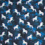 Jersey Fabric - Unicorns in the Stars