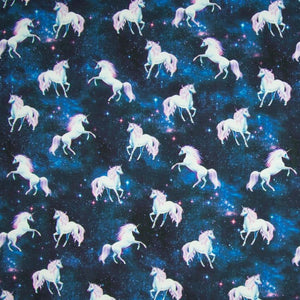 Jersey Fabric - Unicorns in the Stars-Jelly Fabrics