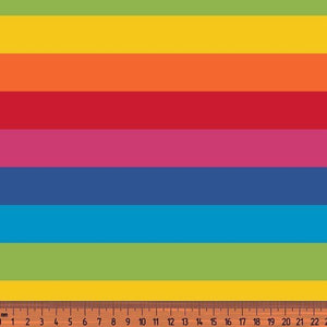 Jersey Fabric - Thick Rainbow Stripes-Jelly Fabrics