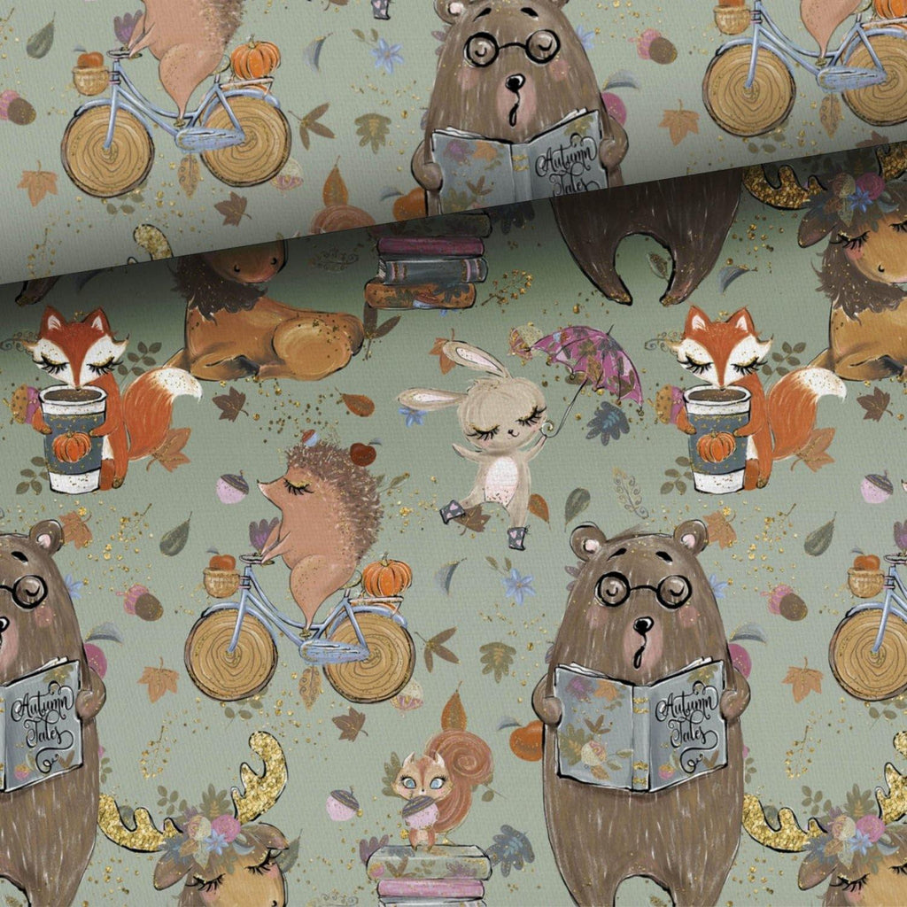 Jersey Fabric - Autumn Tales