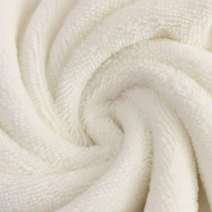 Bamboo Velvet Fabric - Solid White-French Terry-Jelly Fabrics