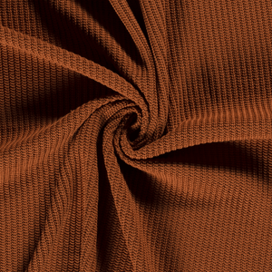 Chunky Knit Fabric - Rust-Rib Knit-Jelly Fabrics
