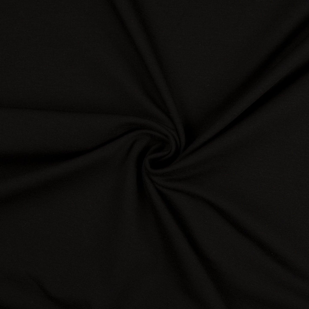 Jersey Fabric - Solid Black