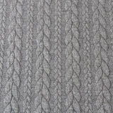 Cable Knit Jacquard Jersey Fabric - Solid in Dark Grey-Jelly Fabrics