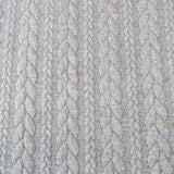 Cable Knit Jacquard Jersey Fabric - Solid in Light Grey-Jacquard-Jelly Fabrics