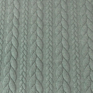 Cable Knit Jacquard Jersey Fabric - Solid in Sage Green-Jacquard-Jelly Fabrics