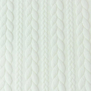 Cable Knit Jacquard Jersey Fabric - Solid in White-Jacquard-Jelly Fabrics
