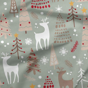 PRE-ORDER!!! - French Terry Fabric - Christmas Reindeer-French Terry-Jelly Fabrics