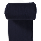 Chunky Rib Knit - Navy blue tubular ribbing-Rib Knit-Jelly Fabrics
