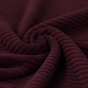 Wide Stretch Corduroy Jersey Fabric - Solid Bordeaux-Corduroy-Jelly Fabrics