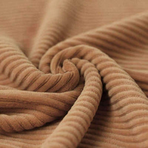 Wide Stretch Corduroy Jersey Fabric - Solid Camel-Jelly Fabrics