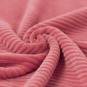 Wide Stretch Corduroy Jersey Fabric - Solid Cerise-Corduroy-Jelly Fabrics