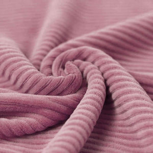Wide Stretch Corduroy Jersey Fabric - Solid Light Mauve-Jelly Fabrics