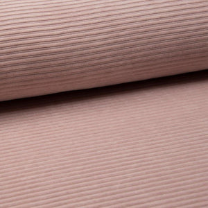 Wide Stretch Corduroy Jersey Fabric - Solid Nude-Corduroy-Jelly Fabrics