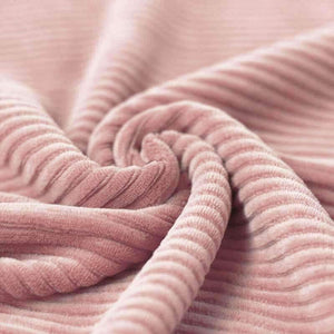 Wide Stretch Corduroy Jersey Fabric - Solid Old Pink-Jelly Fabrics