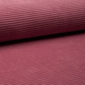 Wide Stretch Corduroy Jersey Fabric - Solid Old Rose-Corduroy-Jelly Fabrics