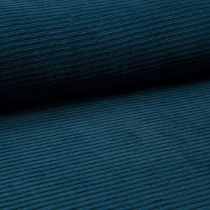 Wide Stretch Corduroy Jersey Fabric - Solid Petrol-Corduroy-Jelly Fabrics