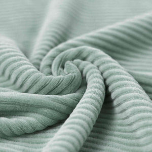 Wide Stretch Corduroy Jersey Fabric - Solid Sea Green-Corduroy-Jelly Fabrics