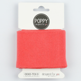 Ready Made Cuff - Solid Coral-Cuff Ribbing-Jelly Fabrics
