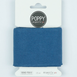 Ready Made Cuff - Solid Jeans Blue-Cuff Ribbing-Jelly Fabrics