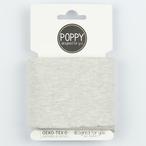 Ready Made Cuff - Solid Light Grey Melange-Jelly Fabrics