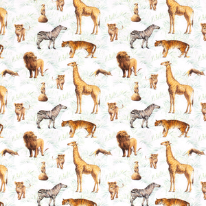 PRE-ORDER!!! - Cotton Jersey Fabric - Digital Animals-Jersey Fabric-Jelly Fabrics