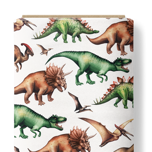 French Terry Knit Fabric - Dinosaurs-French Terry-Jelly Fabrics