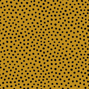 Organic Jersey Fabric - Dots in Ochre